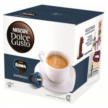 CAPSULA CAFETER CAFE DOLCE GUSTO ESPRESSO BONKA 3 CAJAS DE 16 CAPS.