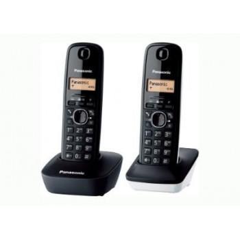 TELEFONO DECT DUO PANASONIC KX-TG1612SP1 NEGRO/BLANCO