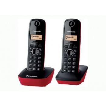 TELEFONO DECT DUO PANASONIC KX-TG1612SPR NEGRO/ROJO