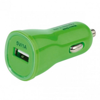 CABLE  VIVANCO .PBVV1AUSBCCGR CARGADOR USB PARA COCHE 1A VERDE