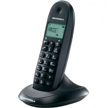 TELEFONO MOTOROLA INALAMB DECT C1001L SINGLE NEGRO+