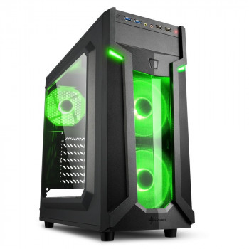 COMPONENTE PC  SHARKOON 4044951026791 CAJA ATX  VG6-W 2XUSB3.0 SIN FUENTE GREEN