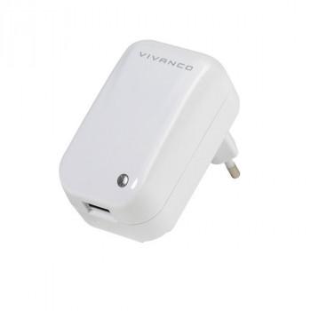 ALIMENTADOR CARGADOR VIVANCO .T-PO AC USB CARGADOR DE VIAJE UNIVERSAL 110V-230V
