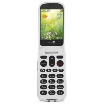 TELEFONO MOVIL  DORO 6050 ORO CHAMP??N BLANCO   M??VIL SENIOR 2.8     C??MARA 3M