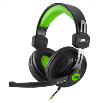 AURICULAR  SHARKOON 4044951018253 ES GAMING  RUSH ER2 VERDE MICROFONO ALAMBRICO
