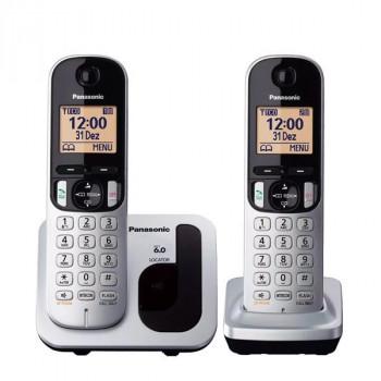 TELEFONO DECT DUO PANASONIC  KX-TGC212SPS GRIS METALICO